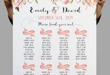 Seating Charts / Inventive ways to present your seating plan to your guests