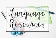 Language / From Common Core Language resources to base word displays and supplemental grammar materials, this is a collection of classroom resources and teaching ideas to help my fellow teachers prepare for teaching language in the classroom.