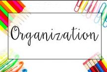 Organization / With so many assignments and classroom activities, it is important to have strong student organization AND teacher organization. From student work organization ideas to organizing classroom supplies, this is a collection of ideas to make sure you can concentrate on the work and not the mess!