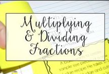 Multiplying and Dividing Fractions / This is a collection of classroom math resources and teaching ideas all focused on teaching multiplication and division in the classroom, including tools on teaching common core math.