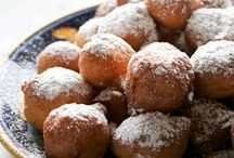 Fritters & Hushpuppies - Sweet / A sweet fritter is batter and a sweet or fruit base ingredient beyond the dough and then is deep-fried. A hushpuppy like a fritter is a sweet food made from cornmeal batter that is baked in small ball or sphere shapes, or occasionally oblong shapes.  / by Brenda Law