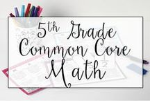 5th Grade Common Core Math Resources / This is a collection of classroom resources for teaching 5th Grade Common Core Math - skill sheets, lesson plans, common core standards.