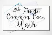 4th Grade Common Core Math Resources / This is a collection of classroom resources for teaching 4th Grade Common Core Math - skill sheets, lesson plans, common core standards.