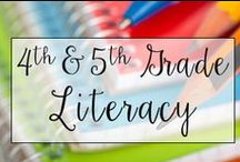 4th & 5th Grade Common Core Literacy / This is a collection of classroom resources for teaching 4th and 5th Grade Common Core English Language Arts - skill sheets, lesson plans, common core standards.
