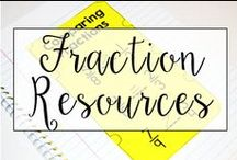 Fractions / This is a collection of classroom math resources and teaching ideas all focused on teaching fractions in the classroom, including fraction centers, fraction anchor charts, and fraction interactive notebook resources.