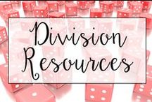 Division / This is a collection of classroom math resources and teaching ideas all focused on teaching division in the classroom, including division centers, division anchor charts, and division lessons.