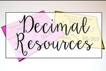 Decimals / This is a collection of classroom math resources and teaching ideas all focused on teaching decimals in the classroom, including decimal math centers, decimal interactive notebooks, and decimal anchor charts.