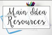 Main Idea / This is a collection of classroom reading resources and teaching ideas all focused on teaching main idea in the classroom, including main idea anchor charts, main idea lesson plans, and main idea teaching resources.