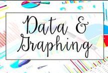 Data and Graphing / This is a collection of classroom math resources and teaching ideas all focused on teaching data and graphing in the classroom, including graphing activities, graphing centers, and graphing anchor charts.