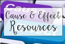 Cause and Effect / This is a collection of classroom reading resources and teaching ideas all focused on teaching cause and effect in the classroom, including cause and effect reading centers, cause and effect anchor charts, and books to use while teaching cause and effect.