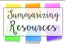 Summarizing / This is a collection of classroom reading resources and teaching ideas all focused on teaching summarizing in the classroom, including lessons on summarizing, summarizing anchor charts, and books for teaching summarizing.