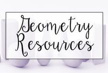 Geometry / This is a collection of classroom math resources and teaching ideas all focused on teaching geometry in the classroom, including tools for teaching 2-D shapes and 3-D shapes.