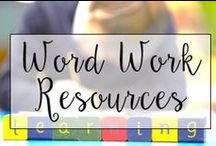 Word Work Resources / This is a collection of classroom language resources and teaching ideas all focused on word work, spelling, and teaching students spelling patterns.