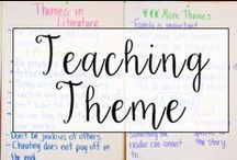 Theme / This is a collection of classroom reading resources and teaching ideas all focused on teaching theme in the classroom, including theme activities, theme anchor charts, and books to use for teaching theme.