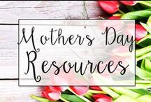 Mother's Day / Collection of classroom resources and teaching ideas to help teachers celebrate Mother's Day in the classroom, including Mother's Day art projects and Mother's Day gifts.