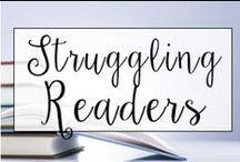 Struggling Readers and New to Country / This is a collection of classroom reading resources and teaching ideas all focused on helping struggling readers succeed!