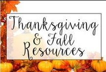 Thanksgiving and Fall in the Classroom / From fall art projects to children books that teach gratitude and Thanksgiving crafts, this is a collection of classroom resources and teaching ideas to help my teachers lesson plan during the month of November.