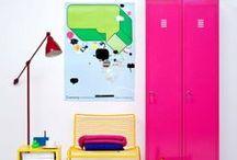 Home & Color / Maison et intérieur colorés