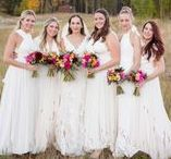 White Wedding Inspiration | twobirds Bridesmaid / Bridesmaids in white? Seriously love.