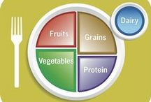 My Plate - Portion Control / MyPlate is the current nutrition guide published by the United States Department of Agriculture, a food circle (i.e. a pie chart) depicting a place setting with a plate and glass divided into five food groups. It replaced the USDA's MyPyramid  / by Brenda Law