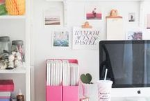 ♥ WORKSPACE ♥ / Inspiration bureaux et workspace girly et frais