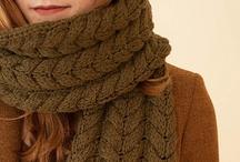 Des écharpes (idées tricot)