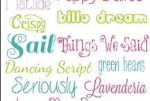 I love fonts! / There are tons of websites that offer free fonts to download.  Choosing the right font can make all the difference.......it can really make your design stand out!