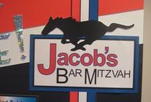 Car themed Bar Mitzvah! / Cars, cars and more cars was the theme. Mustangs, Corvettes, Cobras, and tons more! This Bar Mitzvah kid was totally into cars!