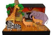 De dierentuin / Een bord vol ideeën rondom het thema dierentuin voor peuters en kleuters