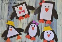 Invierno / Manualidades y decoraciones de invierno para niños