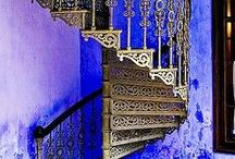 Living spaces & staircases. / Architecture, design, spiral staircases, indoor/outdoor living.