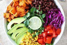Food: Colourful Salads Bowls / Eat the rainbow