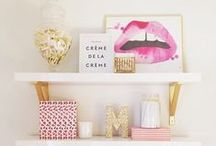 Home: A splash of Pink / Pink accents for the home