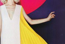 Fashion: Pops of Colour / Colourful womenswear looks
