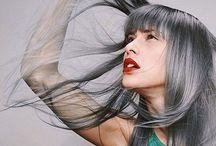 Hair: Shades of Grey / Black grey, white grey, lilac grey, blue grey. Love it all
