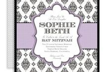 Invitations, Save the Date Cards, & More / This is a collection of invitations & other stationary items that inspire me, from Bar & Bat Mitzvahs, weddings, & other special events.