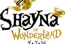 Bat Mitzvah - Alice in Wonderland theme / Madhatter's hat, teapots & teacups made up 3 fun logos!