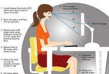 Comfort and Ergonomics / Great stretches and advice to keep you relaxed and lower the strain on your body at your desk.