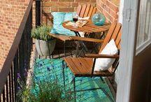 Balkong, altan och uteplats / Balcony, porch and outdoor sittning area