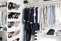 Closet Organizing / organized closets, clothes, clothing, wardrobes, attire, fashion