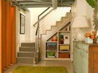 Basement Organizing / Organized basements, basement clutter, cellar organization