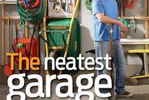 Garage Organizing / organized garages, garage zones, wall systems, overhead storage, peg boards