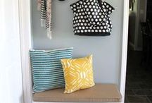 Entryway Organizing / organized entryways, mudrooms, coats, boots, bags, backpacks, launch pad
