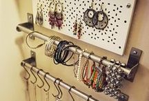 Jewelry Organizing / organized jewelry, rings, necklaces, bracelets, earrings, gold, silver, bling, costume, beads, gemstones