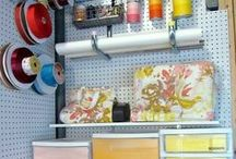 Craft Room Organizing / organized craft rooms, arts and crafts, scrapbooking, ribbon, office supplies, creativity
