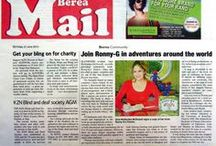 """Media Coverage of """"Ronny-G's Travels"""" / Hoopla! This is what the media had to say about Ronny-G's Travels…"""