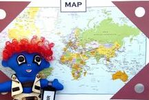 """Ronny-G's Travels (The Ronny-G Doll) / """"Posed"""" Photographs of Ronny-G Around the World"""