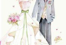 """WEDDINGS """"sketches"""" / στεφανα μπομπονιερες λαμπαδες"""