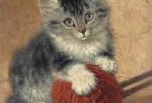 Cats : Henriette Ronner - Knip. / Henriette Ronner - Knip was een bezielde kunstenares waar het haar katten schilderijen betrof. Ze kon de ziel en het hart van een kat blootleggen. Een begenadigde vrouw.