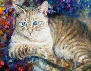 Cats : Leonid Afremov.